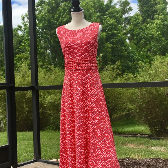 7dbd7e8a24ab Jessica Howard Dresses | Red White Polka Dot Sundress Size 8 | Poshmark